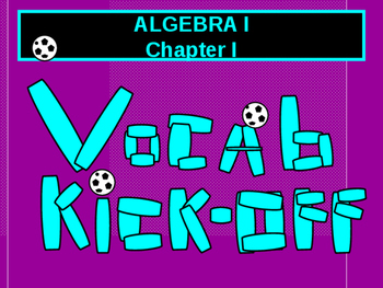 Math Lab:  Algebra I and pre-Algebra Vocabulary Kick-off
