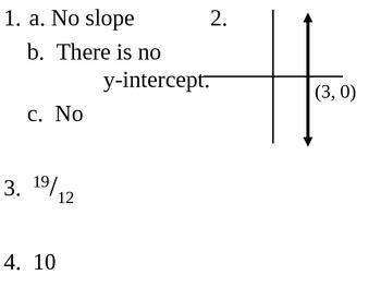 Algebra I or Algebra II Bell Work