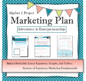 Algebra I project: Marketing Plan (system of linear equations)