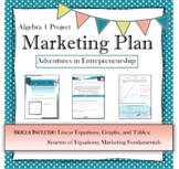 Distance Learning math project Algebra Marketing Plan PBL real world Math