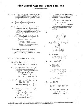 Algebra I,Board Session 11,Common Core Review,Quiz Bowl,Simplifying polynomials