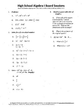 Algebra I,Board Session 16,Common Core Review,Quiz Bowl,functions,inequalities