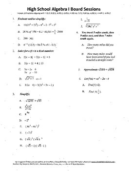 Algebra I,Board Session 18,Common Core Review,Quiz Bowl,radicals,functions