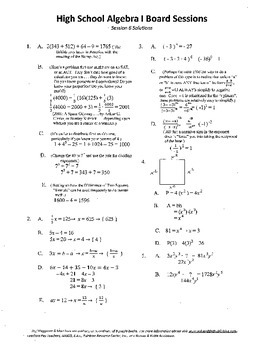 Algebra I,Board Session 6,Common Core Review,Quiz Bowl,Simplifying, polynomials