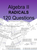Algebra II 120 Multiple Choice Radicals SOL type questions
