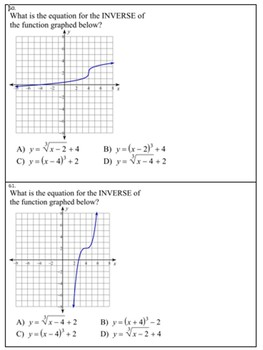 Algebra II 120 Multiple Choice Radicals SOL type questions