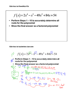 Algebra II 2 Polynomials Rational Functions Root Theorem, Division