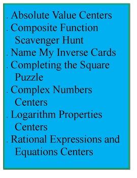 Algebra II Bundle