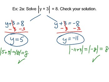 Algebra II Ch. 1.4 - Solving Absolute Value Equations