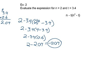 Algebra II Ch. 1 - Equations and Inequalities