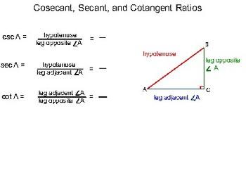 Algebra II Ch. 12.1 - Trigonometric Functions in Right Triangles