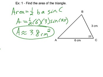 Algebra II Ch. 12.4 and 12.5  - The Law of Sines and the Law of Cosines