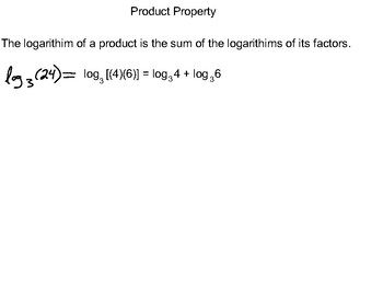 Algebra II Ch. 7.5 - Properties of Logarithms