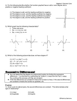 Algebra II Common Core Regents Review Topic #4- Polynomials and Functions