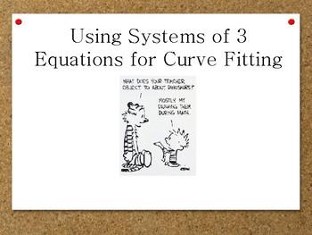 Algebra II: Curve Fittings