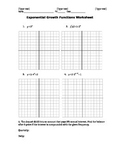 Algebra II Exponential Growth Functions Worksheet