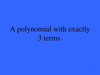 Algebra II Jeopardy Gme