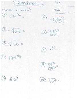 Algebra II Radical Benchmark