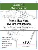 Algebra II Statistics-Range, Box Plots, IQR, Percentiles C