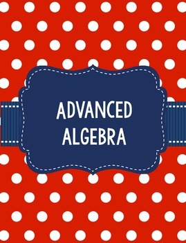 Algebra II or Advanced Algebra Georgia GSE Units Teacher Binder in Red and Navy