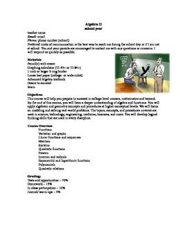 Algebra II syllabus