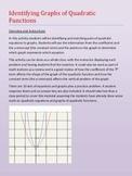 Algebra - Identifying Graphs of Quadratic Functions