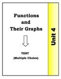 Algebra Individual Multiple Choice Test: Unit 4 - Function