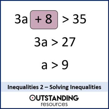 Algebra: Inequalities 2 - Solving Inequalities (solving equations)