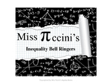 Algebra - Inequalities - Bell Ringers - At the Bell's