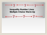 Algebra: Inequalities Number Lines Multple Choice Warm-up (10 problems)