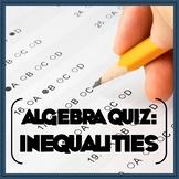Algebra Inequalities Quiz