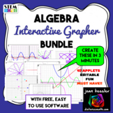 Algebra Interactive Dynamic Easy Fun Graphing App with Editable Templates