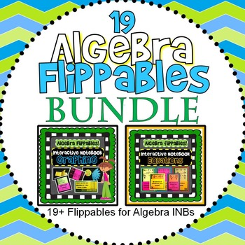 Interactive Notebook BUNDLE: Graphing+Solving (19 flippables)