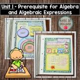 Intro to Algebra - Algebra Interactive Notebook (Unit 1)