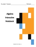 Algebra Interactive Notebook with Texas SEs