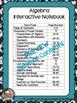 Algebra Interactive Notebook for Entire Year Bundle