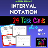 Interval Notation Task Cards plus HW