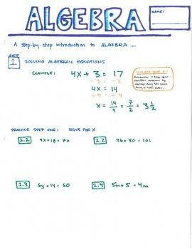 Solving Algebraic Equations: 5 steps