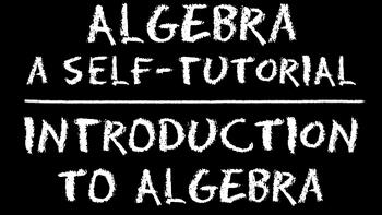 Algebra: Introduction to Algebra DVD