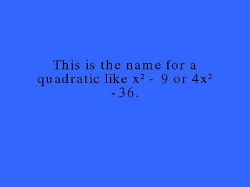 Algebra Jeopardy, Polynomials, Quadratics, and Equations