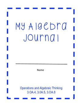 Algebra Journal - Grade 3 (Common Core)