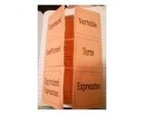 Algebra Key Terms/ Vocabulary Foldable (Flippable)
