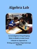 Algebra Lab: Writing a Slope-Intercept Equation Student Investigation