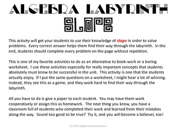 Algebra Labyrinth: SLOPE