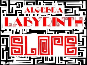 Algebra Labyrinth: SLOPE between two points FREEBIE