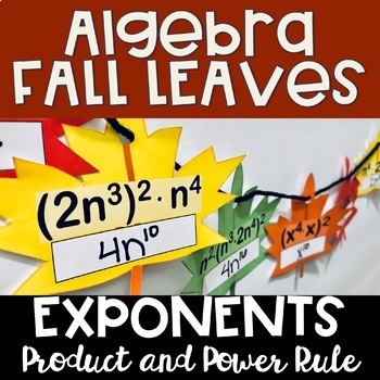Algebra Leaves - Exponents (product and power rules)