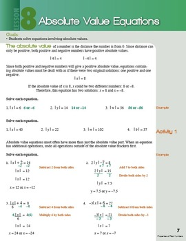 Algebra Lesson: Absolute Value Equations