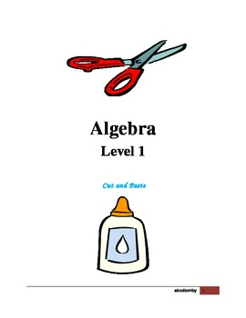 Algebra Level 1 - Cut and Paste