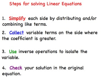 Linear Equations Complicated