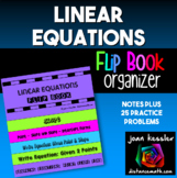 Linear Equations and Slope Flip Book Organizer